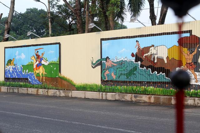 Độc đáo bức tranh 3D vẽ trên tôn dài nhất Việt Nam - Ảnh 8.