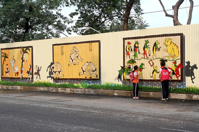 Độc đáo bức tranh 3D vẽ trên tôn dài nhất Việt Nam - Ảnh 9.